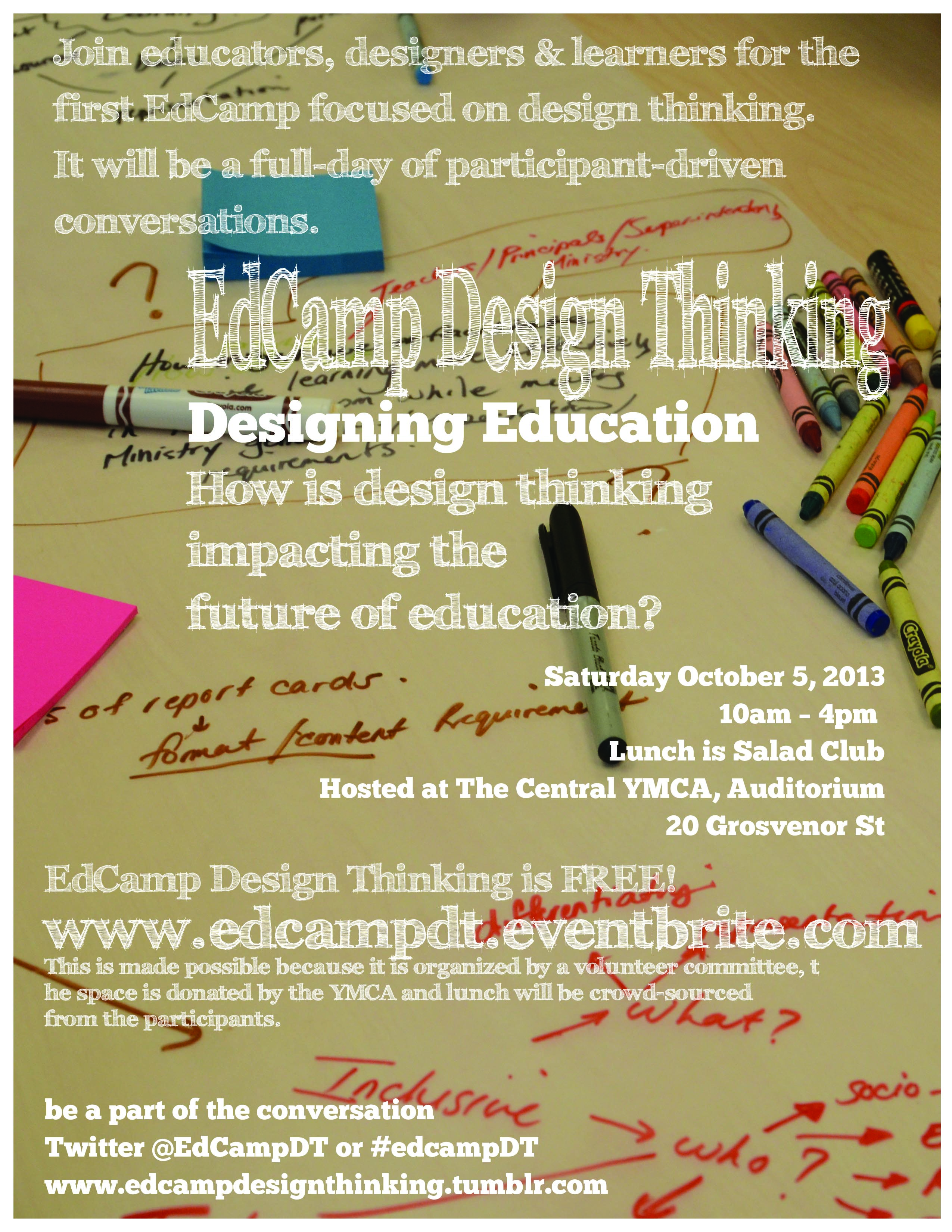 Edcamp Toronto Design Thinking Poster.